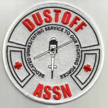 Medical Dustoff Association Military Patch DEDICATED UNHESITATING SERVICE