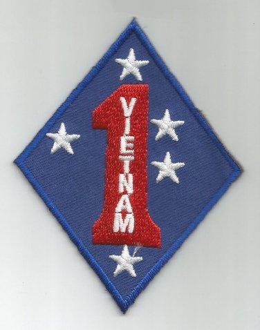 USMC 1st MARINE DIVISION VIETNAM -  MILITARY PATCH - MARINE CORPS