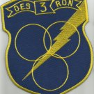US NAVY DESRON 3 Destroyer Squadron Military Patch Insignia - NAVY BLUE