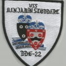 DDG-22 USS BENJAMIN STODDERT GUIDED MISSILE DESTROYER MILITARY PATCH POST UMBRA