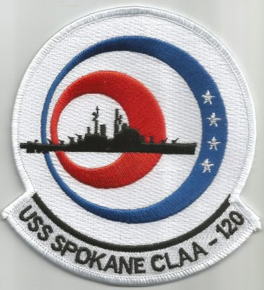 USS SPOKANE CL-CLAA-120 JUNEUA CLASS LIGHT CRUISER MILITARY PATCH