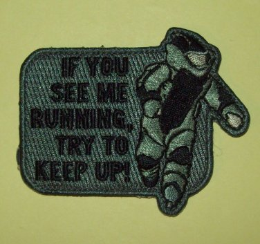 EOD RUNNING - ACU - TACTICAL COMBAT BADGE OIF OEF MORALE VELCRO MILITARY PATCH