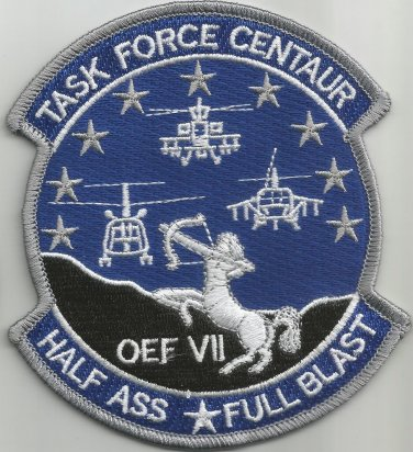 10th Combat Aviation Battalion Military Patch TASK FORCE CENTAUR OEF VII