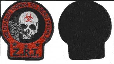 Zombie Response Team ZRT Death Skull Velcro Military Morale Patch