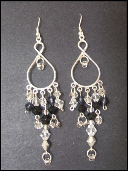 Black, white, & silver Chandies - SOLD