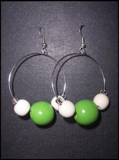 Green Hoops - SOLD