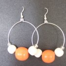Orange Hoops - SOLD