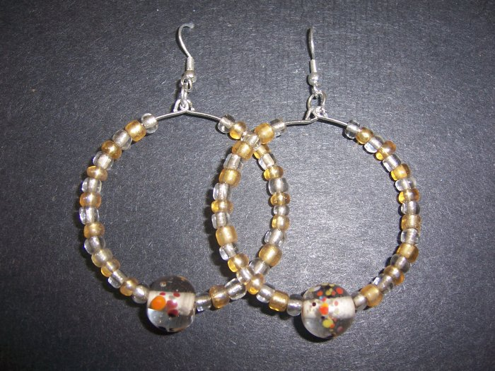 Gold & Clear Hoops