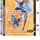 Kirarin Revolution 5th Stage Winter Snow Gold Foil Prismatic Card - 029-A