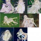 Chobits Manga Trading Collection Complete B1-B7 Foil Set