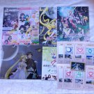 Sailor Moon Crystal 20th Anniversary Stamp Rally Card Promotion Flyers File Magnet