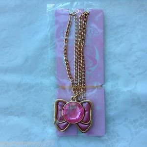 Sailor Moon Crystal Sebon Star Premium Necklace Charm - Moon Ribbon Bow