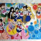 Sailor Moon Manga School Uniform Five Soldiers Poster