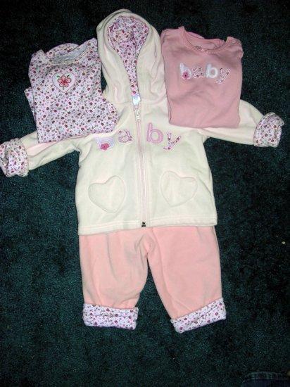 4pc Carter's fleece set 12 months