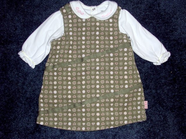 Carter's heart corduroy dress 12 months