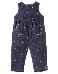 Gymboree Sweets for the sweet cupcake denim overalls 12-18