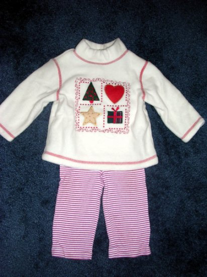 holiday fleece top set 12 months