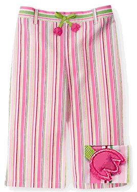 Gymboree Tip Toe stripe pants 18-24