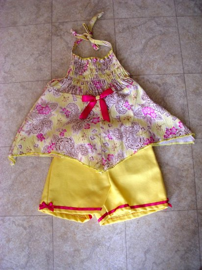 Scarf halter top/shorts set 24 months