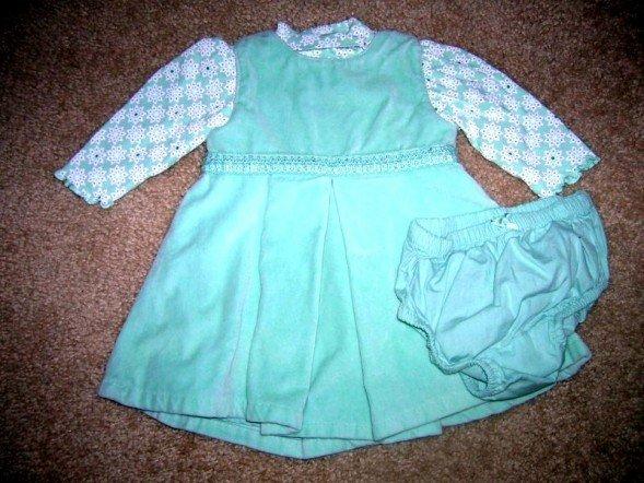 Gap velour dress, onesie 0-3