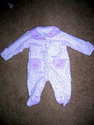 Carter's purple flower sleeper NB