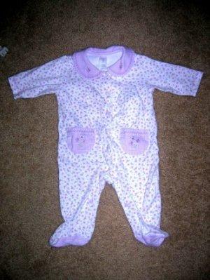 Carter's purple flower sleeper 3 months