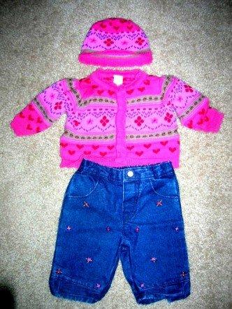 Little Me sweater set 4pc 3 months