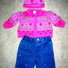 Little Me sweater set 4pc 3 months