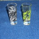 Set of two (2) shot glasses