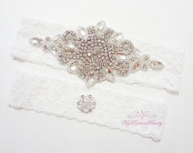 Rhinestone Garter, Wedding Garter Set, Wedding Garter, Bridal Garter, sexy Garters GTA0018