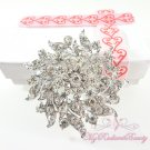 3'' Rhinestone silver brooches, Bridal Brooch, Wedding brooch BR0034