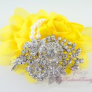 Bridal Floral Banquet Rhinestone Brooch, Wedding Brooch Jewelry, Bridal brooch BR0025