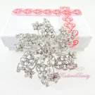 Floral Star Shape Bridal Rhinestone Brooch, Wedding Brooch Jewelry, Bridal brooch BR0023