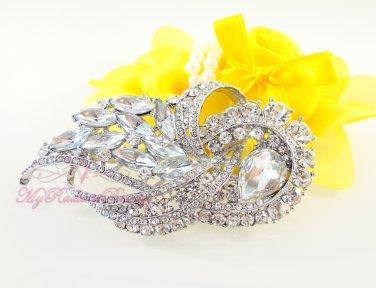 Wedding Flower Bouquet Hair Comb Swarovski, Bridal Hair Comb, Floral Comb, Wedding Comb HC0017