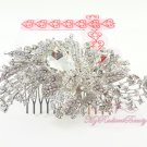 Large 4.53'' Pretty Shiny Bridal Rhinestone Comb, Wedding Comb Jewelry, Bridal Comb HC0022