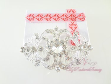 Large Bridal Flower Crystal Hair Comb, Bridal Hair Comb, Wedding Comb, My Radiant Beauty HC0020