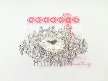 Unique Beautiful Bridal Crystal Rhinstone Hair Comb, Bridesmaid Haircomb, Bridal Comb HC0018