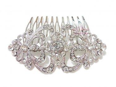 Bridal Flower Hair Comb, Rhinestone Comb, Bridesmaid Comb, Bridal Hair Comb HC0010