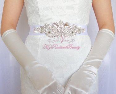 Elegant and Modern Rhinestone Bridal Sash Belt, Luxurious Sash, Wedding Sash, Prom Sash SB0013