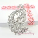 Flower Brooch pin, Lots of sparkly Rhinestone Crystal and vintage look, Bridal Brooch BR0018