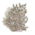 Bridal Rhinestone Crystal Brooch Pin BR0004