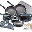 HOT DEAL! Paula Deen 19 Piece Black Non Stick Signature Collection Cookware Set