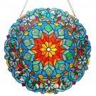 "21"" Round Stained Glass ""Blossom"" Tiffany Style Window Panel Suncatcher"