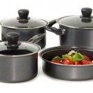 HOT DEAL! 10 Piece Basic Essentials Non Stick Black Cookware Set