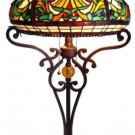 Magnificent Handcrafted Tiffany Style Stained Glass Victorian Table Lamp