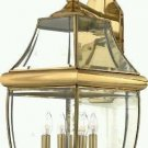 Quoizel Lighting NY8339B Newbury 4 Light Outdoor Wall Light In Polished Brass