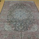 10x14 BREATHTAKING HANDKNOTTED INDO-PERSIAN ART SILK QLUM DESIGN RUG GORGEOUS!