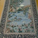 4x6 Authentic Signed Piece Handknotted Persian Esfahan Silk Foundation+Highlight