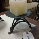 Pair of Decorative Handmade Metal Candleholders . Perfect for Indoor or Outdoor