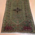 3x6 Authentic Handmade Handknotted Antique Turkish Kazak Rug Circa 1910